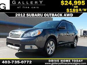 2012 Subaru Outback 2.5i 4WD $189 bi-weekly APPLY NOW DRIVE NOW