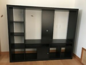 IKEA Lappland TV storage unit black-brown