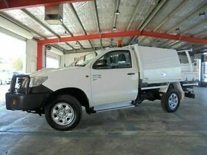 2012 Toyota Hilux KUN26R MY12 SR White 5 Speed Manual Cab Chassis Welshpool Canning Area Preview