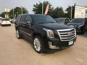 2017 Cadillac Escalade Platinum black on black low km`s 2nd row