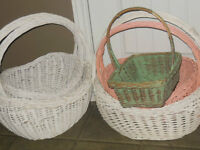 Large shabby chic baskets, great for yarn, toys, etc.