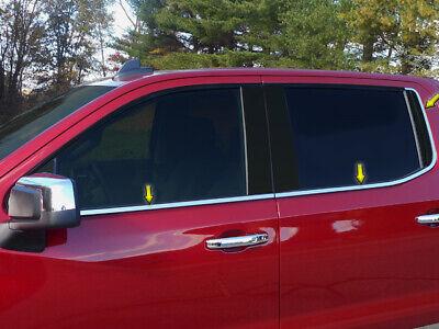WS59170 Polished Window Sill Trims Fits 2019 Chevrolet Silverado 1500 Crew Cab