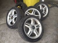SET OF SEAT LEON WHEELS & TYRES 17""