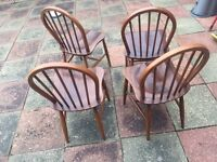 4 Ercol chairs from the 1950's