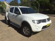 2012 Mitsubishi Triton MN MY12 GL-R (4x4) White 5 Speed Manual Homebush West Strathfield Area Preview