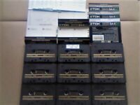A2Z JL 9x VERY RARE TDK SA-X 90 DUAL LAYER CHROME CASSETTE TAPES 1982-1984 WITH CARDS CASES LABELS