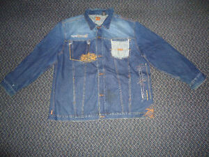 **ENYCE****BLUE JEAN DENIM JACKET MENS XXXL 3X 3XL