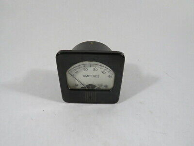Hoyt 598-d-5305 Analog Ammeter Panel Meter 0-50a Reading 3 D Used