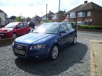 AUDI A4 2.0 TDI AVANT SE 140 BHP 2006 5 DOOR ESTATE 6 SPEED GEARBOX PAS, MOT £3995 ONO