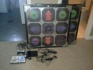 Cobalt Flux DDR Metal Dance Pads w/ PS2, DDR Games, Hook-ups