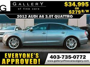 2012 Audi A6 3.0T QUATTRO $279 bi-weekly APPLY NOW DRIVE NOW