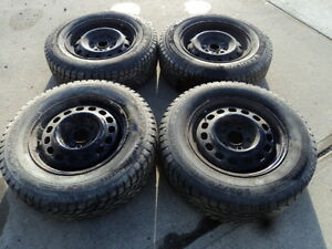 4 Champiro Winter Tires with Rims for Sienna 205/70/15