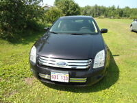 2007 Ford Fusion Black cloth Sedan