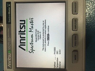 Anritsu Ms2711d Handheld Spectrum Master Analyzer Ms2711 Color Lcd