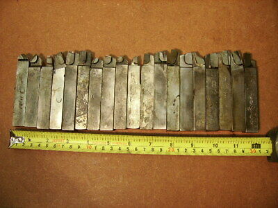 Lot Of 19 Used Carbide Tipped Lathe Tool Bits 58 Square