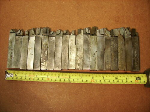 """LOT OF 19 USED CARBIDE TIPPED LATHE TOOL BITS 5/8"""" SQUARE"""