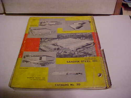 "VINTAGE ORIGINAL INDUSTRIAL TOOLS CATALOG ""SANDVIK COROMANT #70 CUTTING TOOLS"