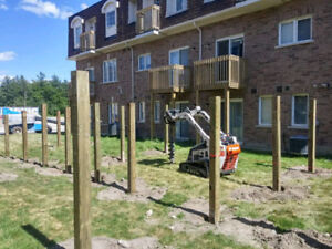 POST HOLE DIGGING, FENCE, DECK, CONSTRUCTION