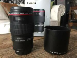 Canon 100mm F2.8 L Series Macro Lens (barely used!)