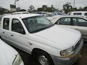 2001 Mazda Bravo B2600 White 4 Sp Automatic Dual Cab Beenleigh Logan Area Preview