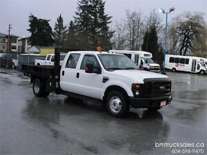 2008 FORD F-350 XL CREW CAB FLAT DECK DUALLY
