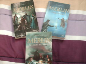 roman a vendre  Merlin    tome 1 a 3 .