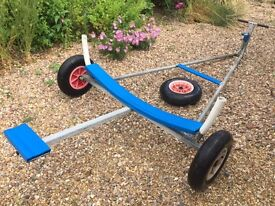 Galvanised dinghy launching trolley