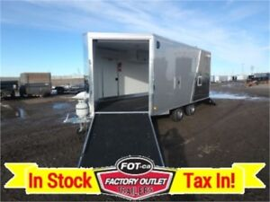 8.5 x 16 *-Aluminum-* Insulated and Heated Sled Trailer!!~TAX IN