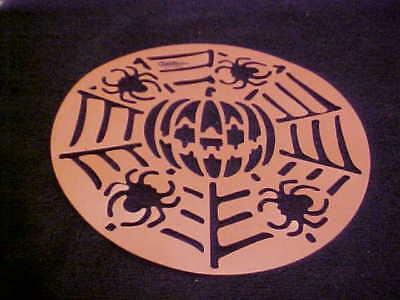 Halloween Pumpkin Spider Stencils (Halloween Plastic Cake Stencil Pumpkin Spiders NEW)