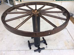 Rustic Wagon Wheel Table