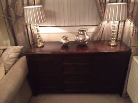 Rotherwood Solid Dark Oak Furniture - Sideboard, TV/Media Unit, Glass Top Coffee Table - £800 ONO