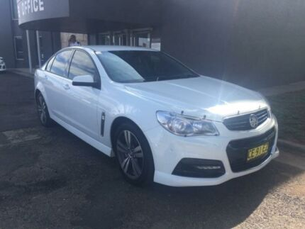 2015 Holden Commodore VF MY15 SV6 White 6 Speed Sports Automatic Sedan