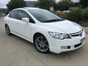 2007 Honda Civic 8th Gen MY07 Sport White 5 Speed Manual Sedan Fyshwick South Canberra Preview