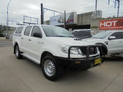 2012 Toyota Hilux KUN26R MY12 SR White 5 Speed Manual 4D Utility Granville Parramatta Area Preview