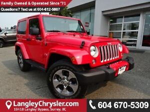 2016 Jeep Wrangler Sahara *ACCIDENT FREE * LOCAL BC JEEP *