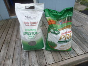 Lawn fertilizer and lime