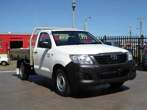 2013 Toyota Hilux TGN16R MY12 Workmate White 4 Speed Automatic Cab Chassis Strathpine Pine Rivers Area Preview