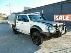 2008 Ford Ranger PJ XL Crew Cab White 5 Speed Manual Utility Kippa-ring Redcliffe Area Preview