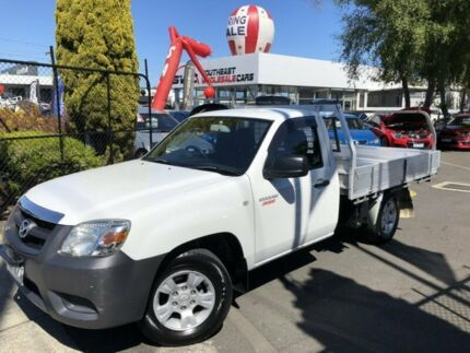 2009 Mazda BT-50 UNY0W4 DX 4x2 White 5 Speed Manual Cab Chassis Seaford Frankston Area Preview