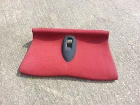 2003 MINI REAR SEAT, RED / GREY
