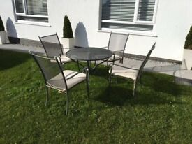 Royal Garden brand - metal circular table and four chairs in North Devon EX33 1FJ