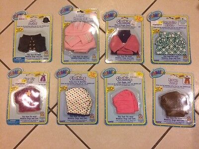 NEW! WEBKINZ CLOTHING LOT of 8 +SECRET CODES! Kinz Klothes PLUSH TOY CLOTHES