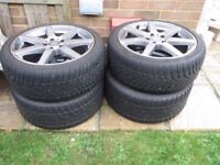 4 x 18 inch Mercedes AMG Alloy Wheels with Dunlop 3D Winter Sport Tyres