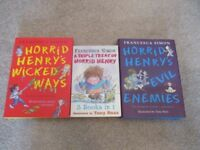 3 x Horrid Henry Books by Francesca Simon (2 Hardback 1 Paperback) contain multiple stories