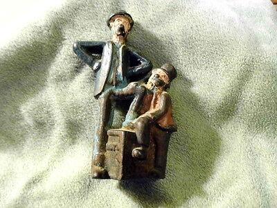 "Great old original cast iron ""Mutt & Jeff"" still penny bank 1912 - 1931"