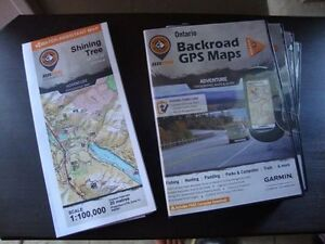 Ontario GPS Maps from Backcountry Mapbooks hunting fishing