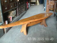 Fish Shaped Hardwood Coffee Table / Bench