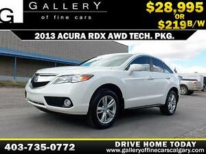 2013 Acura RDX AWD Tech. Pkg. $219 bi-weekly APPLY NOW DRIVE NOW