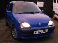 53 plate Seicento, Very low milage. £650 ono MOT March 2017. Ideal first car, very fuel efficient.