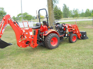 NEW -Kioti CK2510 Compact Tractor, backhoe, loader